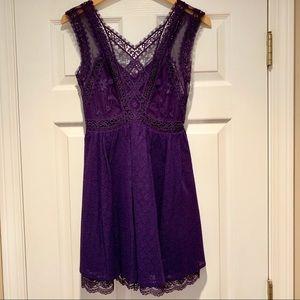 Free People purple lace dress